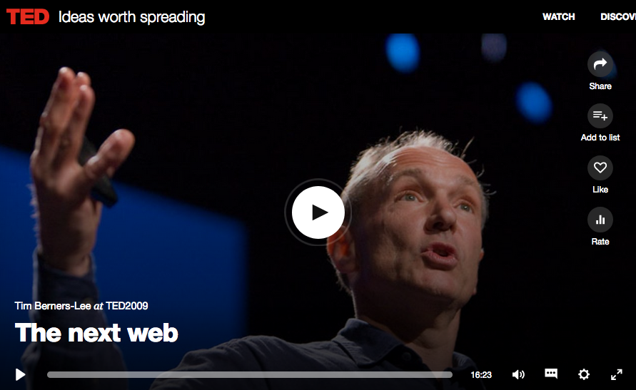 Screenshot of Tim Berners-Lee's talk